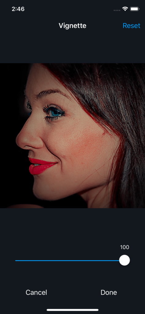 Vimory app Vignette Photos UI