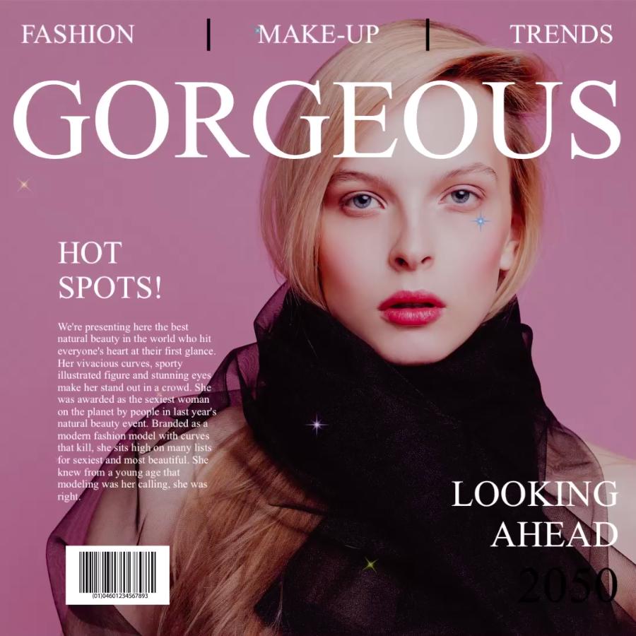 Gorgeous magazine - VIMORY: Photo Editing & Video Slideshow Making Template