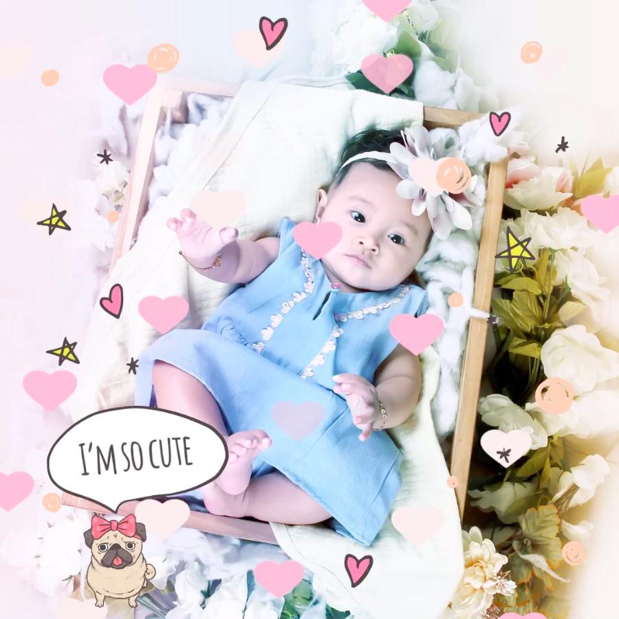 I am so cute - VIMORY: Photo Editing & Video Slideshow Making Template