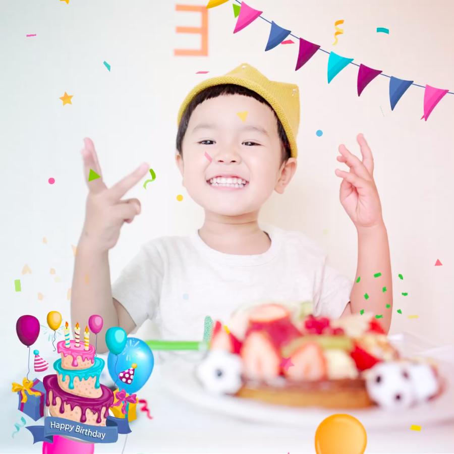 Kids birthday - VIMORY: Photo Editing & Video Slideshow Making Template