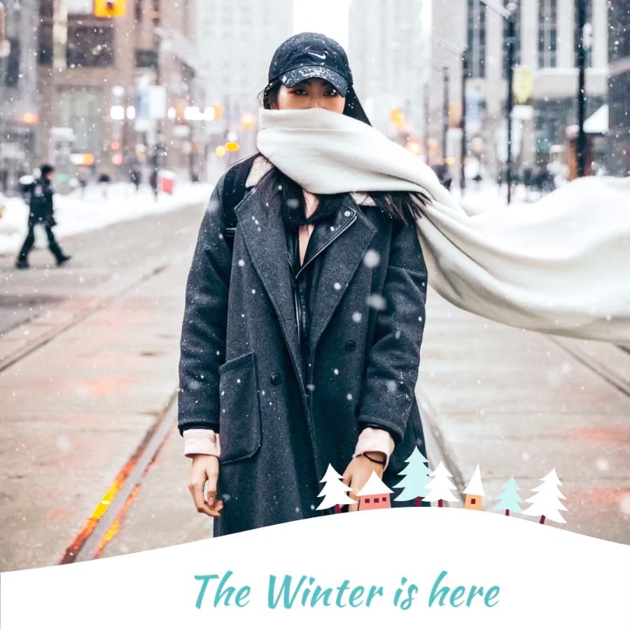 Winter season - VIMORY: Photo Editing & Video Slideshow Making Template