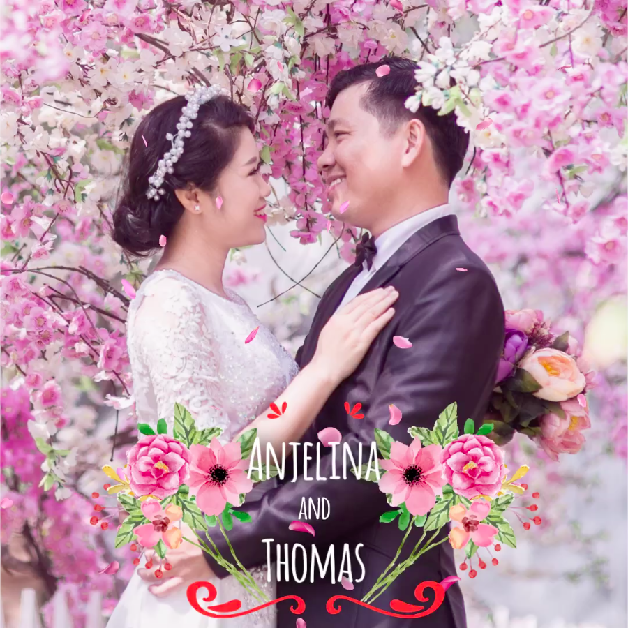 Floral love - VIMORY: Photo Editing & Video Slideshow Making Template