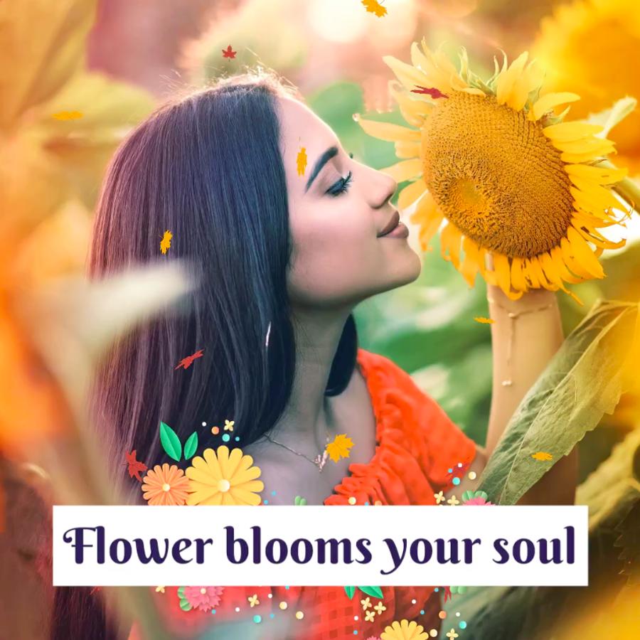 Soul of flower - VIMORY: Photo Editing & Video Slideshow Making Template