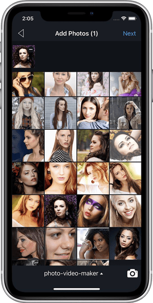 Add Photos - How to transform your images into a video with Vimory