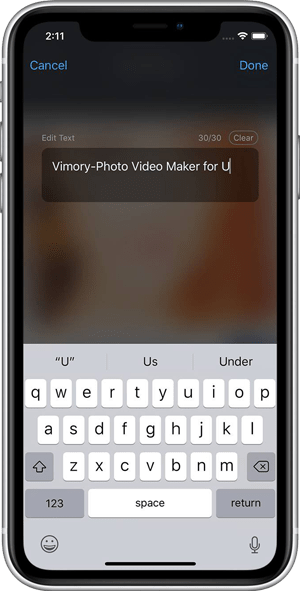 Customize Text - How to transform your images into a video with Vimory