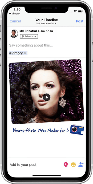 Your Timeline - How to transform your images into a video with Vimory